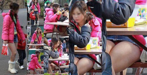 無防備な子連れママさんの座りパンチラを街撮りしたエロ画像 32枚 No.22