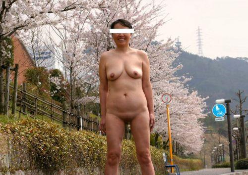 大自然の中で全裸になっちゃう露出狂美女達のヌードエロ画像 35枚 No.14