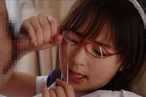 【画像】赤い眼鏡を掛けた知的お姉さんの眼鏡に顔射ぶっかけしたった! 32枚 No.17