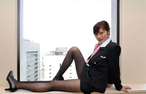 【画像】ストッキングを履いた客室乗務員(CA)の淫らな姿にフル勃起www 33枚 No.16
