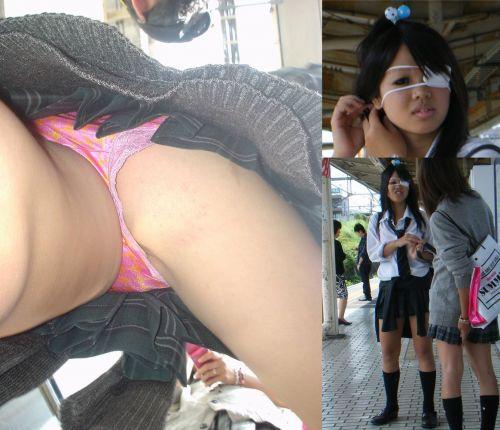 【顔出し画像】メチャカワギャル系JKのパンティを逆さ撮りした結果www 33枚 No.18