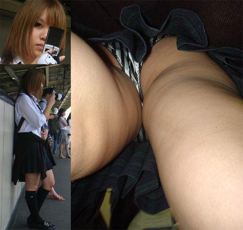 【顔出し画像】メチャカワギャル系JKのパンティを逆さ撮りした結果www 33枚 No.30