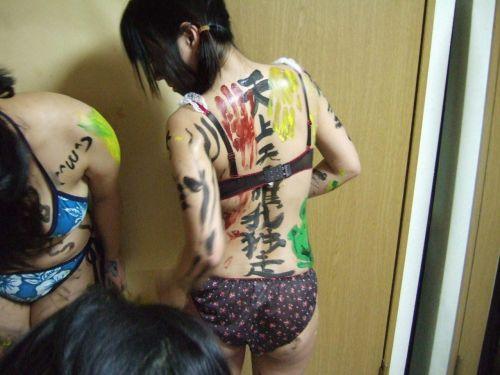 【画像】体中に落書きされて性奴隷・肉便器的扱いをされるドM女達www 31枚 No.10