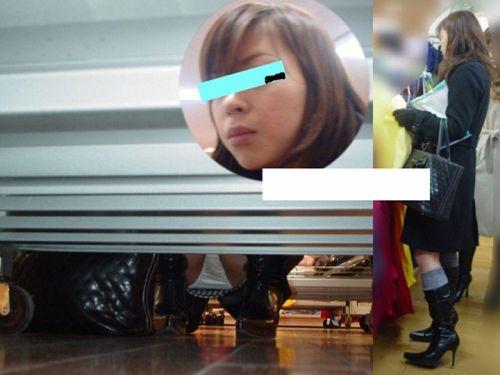 【画像】ビデオ店の棚下から素人ギャルのパンチラ盗撮した結果www 35枚 No.1