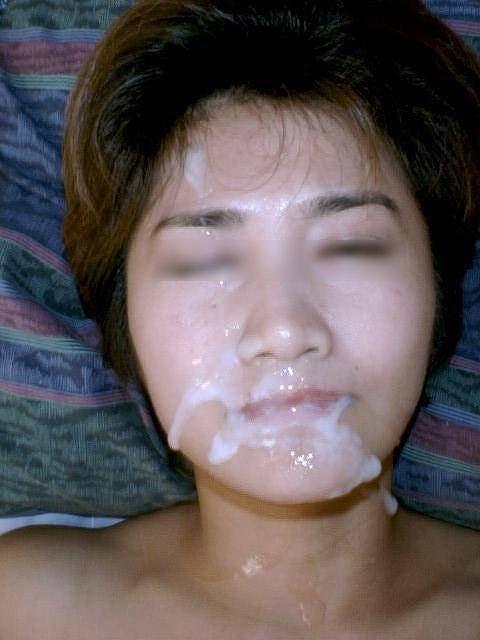 美女の綺麗な顔をザーメンまみれにする顔射ぶっかけエロ画像 35枚 No.16