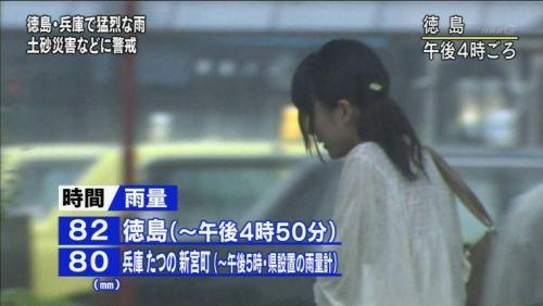 【画像】TV中継でJK達のずぶ濡れなスケブラやパンチラが映った件 37枚 No.27