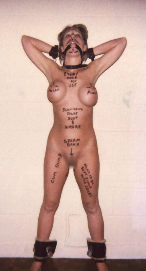 【画像】海外版の肉便器女子に落書きされた言葉の意味がド直球エロだわwww 34枚 No.13