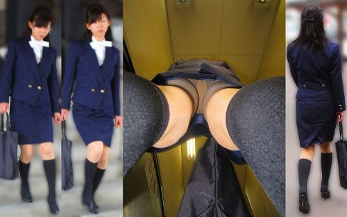 職場で働いてる最中の女性をローアングルから逆さ撮りしたエロ画像 34枚 No.18