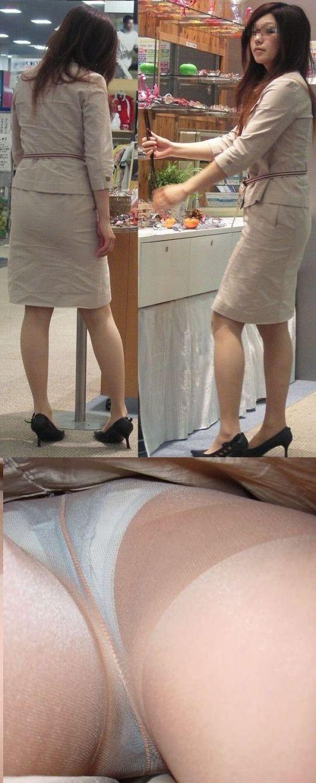 職場で働いてる最中の女性をローアングルから逆さ撮りしたエロ画像 34枚 No.21