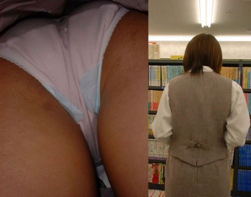 職場で働いてる最中の女性をローアングルから逆さ撮りしたエロ画像 34枚 No.28
