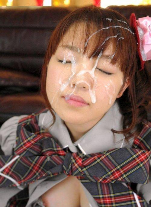 童顔で可愛い女の子の顔を精液ぶっかけて汚しちゃうエロ画像 36枚 No.33