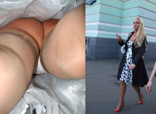 パンストを履いたグラマラス外国人女性のパンチラ逆さ撮り画像 37枚 No.24