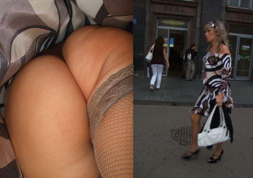 パンストを履いたグラマラス外国人女性のパンチラ逆さ撮り画像 37枚 No.29