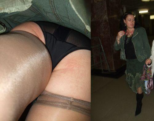 パンストを履いたグラマラス外国人女性のパンチラ逆さ撮り画像 37枚 No.35