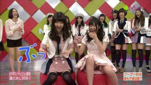 AKB48グループメンバーのTVパンチラ総選挙!お宝ハプニングエロ画像 41枚 No.22