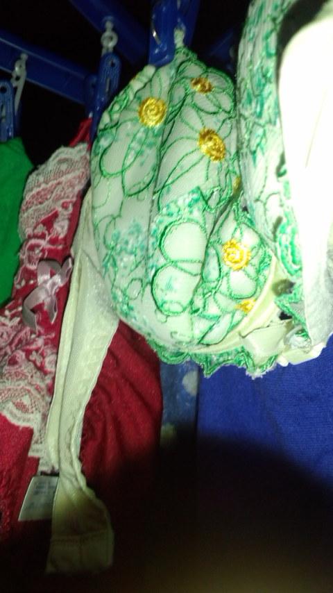 下着フェチの楽園!パンティやブラジャーの洗濯物盗撮エロ画像 34枚 No.34