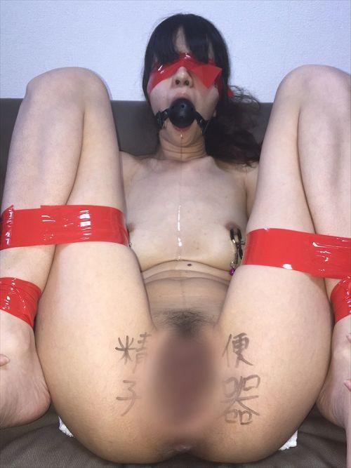 【画像】落書き肉便器なドM女をロープで緊縛して調教した時の達成感www 36枚 No.21