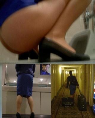 CAさんが和式トイレでM字開脚で排泄シーンを盗撮した結果www 47枚 No.18