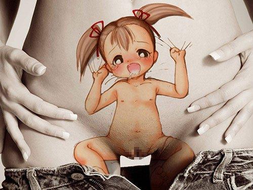 アートなタトゥー・刺青マンコを見せつける女の子のエロ画像 33枚 No.22