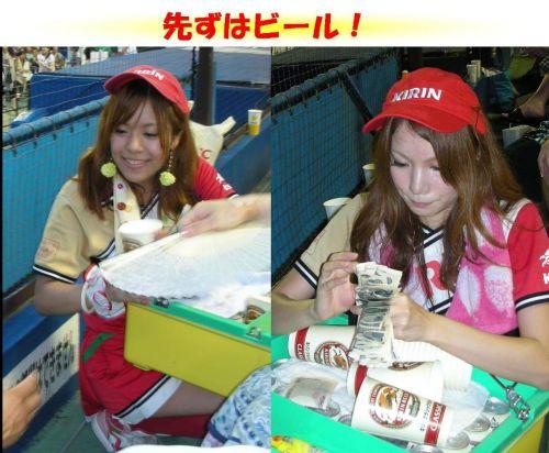 【即バボ】プロ野球場のビール売り子の笑顔が可愛いすぎwww 38枚 No.30