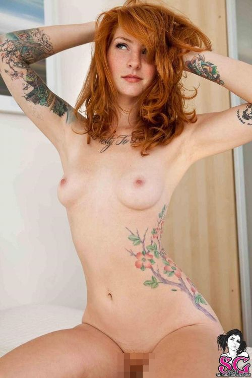 白人女性の刺青・タトゥーの洋柄や花柄が美しいエロ画像まとめ 33枚 No.31