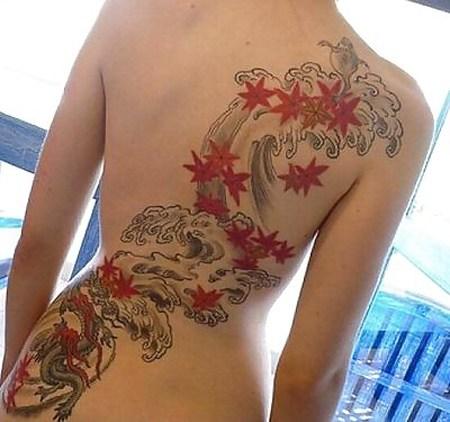 背中に刺青・タトゥーを大胆に入れちゃう外国人美女達のエロ画像 45枚 No.2