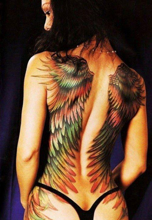 背中に刺青・タトゥーを大胆に入れちゃう外国人美女達のエロ画像 45枚 No.11