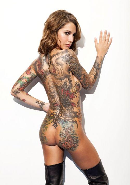 背中に刺青・タトゥーを大胆に入れちゃう外国人美女達のエロ画像 45枚 No.22