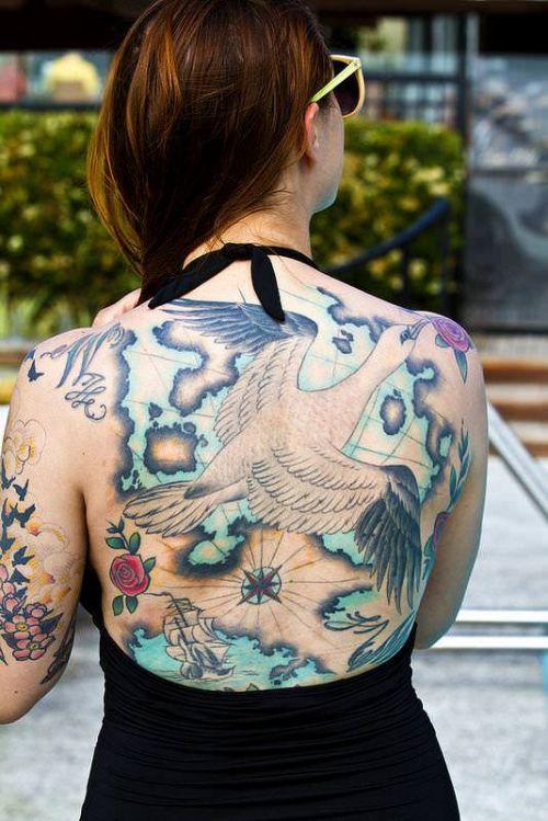 背中に刺青・タトゥーを大胆に入れちゃう外国人美女達のエロ画像 45枚 No.29