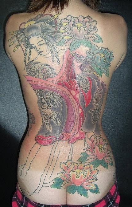 刺青を入れた女の子の股間やおっぱいにムラムラしちゃうエロ画像 34枚 No.22