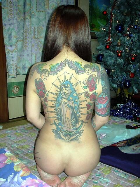 刺青を入れた女の子の股間やおっぱいにムラムラしちゃうエロ画像 34枚 No.26