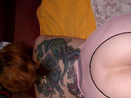 刺青を入れた女の子の股間やおっぱいにムラムラしちゃうエロ画像 34枚 No.34