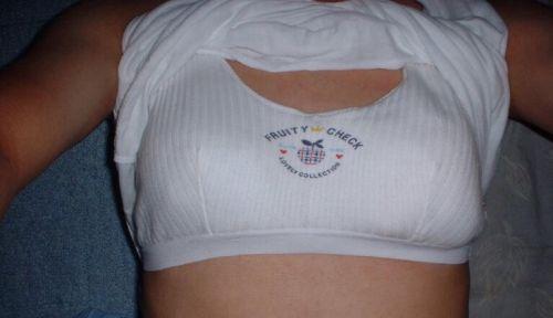 ノーブラで乳輪・乳首が透けて形がクッキリ見えちゃう透け乳首画像 33枚 No.14