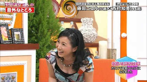 芸能人胸チラ画像!TVに映った女子アナ・タレントの上乳エロ画像 34枚 No.5