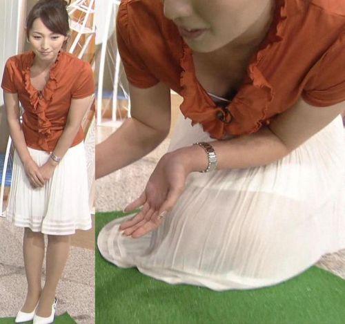芸能人胸チラ画像!TVに映った女子アナ・タレントの上乳エロ画像 34枚 No.9