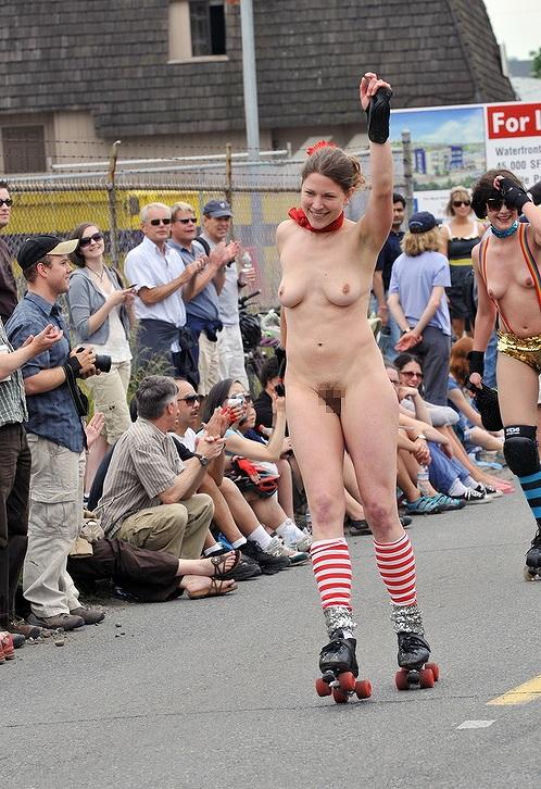 【画像】全裸でスポーツする外国人女性がグラマラスでエロ過ぎwww 37枚 No.16