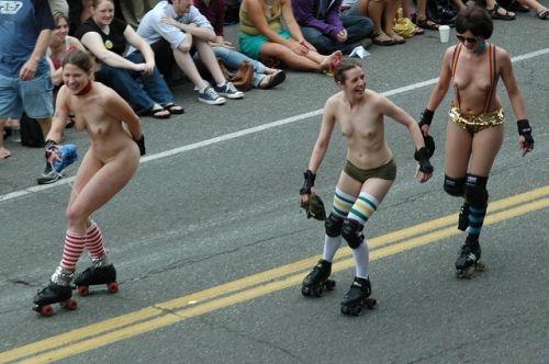 【画像】全裸でスポーツする外国人女性がグラマラスでエロ過ぎwww 37枚 No.17
