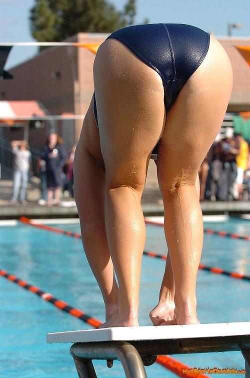 競泳水着の女子選手が飛び込む瞬間のケツと股間がエロすぎwww 32枚 No.21