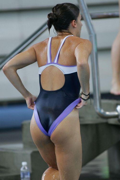 ガチ競泳女子選手の肩幅のデカさや逆三角形の脇肉にムラムラするエロ画像 33枚 No.15