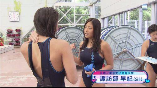 ガチ競泳女子選手の肩幅のデカさや逆三角形の脇肉にムラムラするエロ画像 33枚 No.32