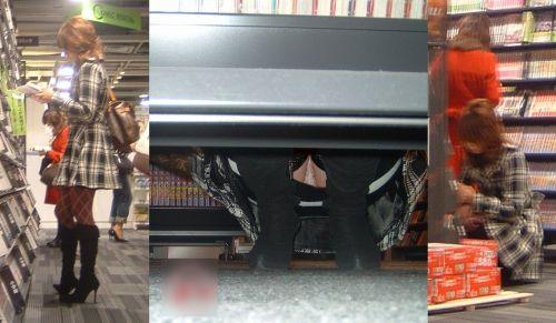 【画像】ビデオ屋で仕事帰りのOLさんの棚下パンチラ盗撮したったwww 35枚 No.17