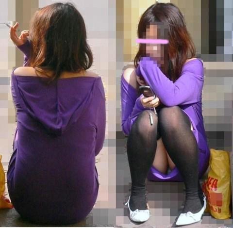 ニーソを履いて座ってる女の子のパンチラや絶対領域のエロさは異常www 36枚 No.16