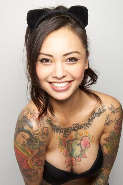 アジア系外国人のタトゥーが神秘的でセクシーなヌードエロ画像 41枚 No.8