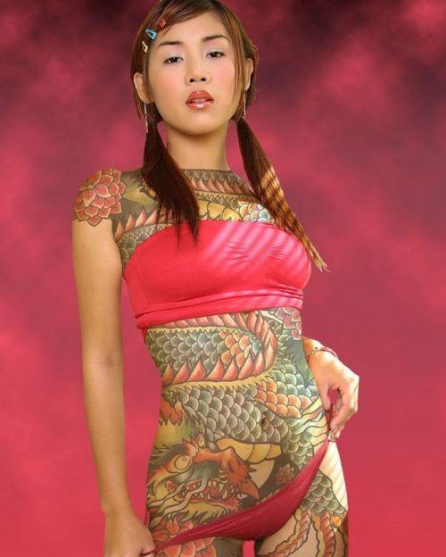 アジア系外国人のタトゥーが神秘的でセクシーなヌードエロ画像 41枚 No.11