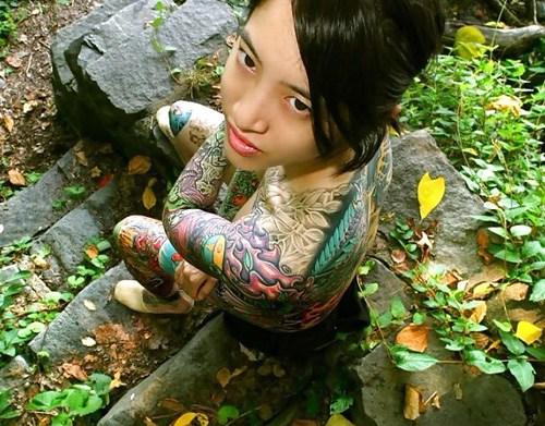 アジア系外国人のタトゥーが神秘的でセクシーなヌードエロ画像 41枚 No.31