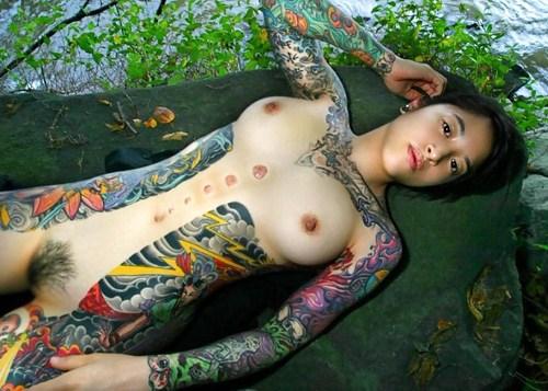 アジア系外国人のタトゥーが神秘的でセクシーなヌードエロ画像 41枚 No.34