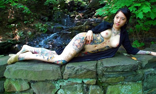 アジア系外国人のタトゥーが神秘的でセクシーなヌードエロ画像 41枚 No.35