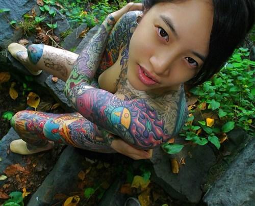 アジア系外国人のタトゥーが神秘的でセクシーなヌードエロ画像 41枚 No.37