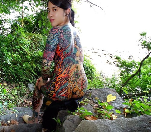 アジア系外国人のタトゥーが神秘的でセクシーなヌードエロ画像 41枚 No.38
