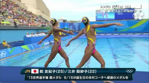 女子シンクロという股間のワレメを主張していくスタイルのエロ競技www 38枚 No.2